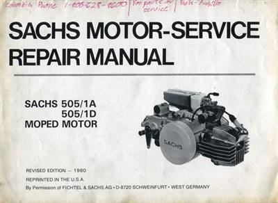 Free Sachs 505 Moped Engine Repair Manual
