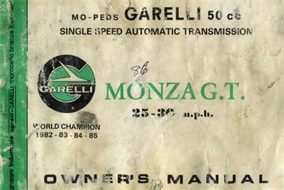 free garelli monza moped owners manual Aermacchi Wiring Diagram